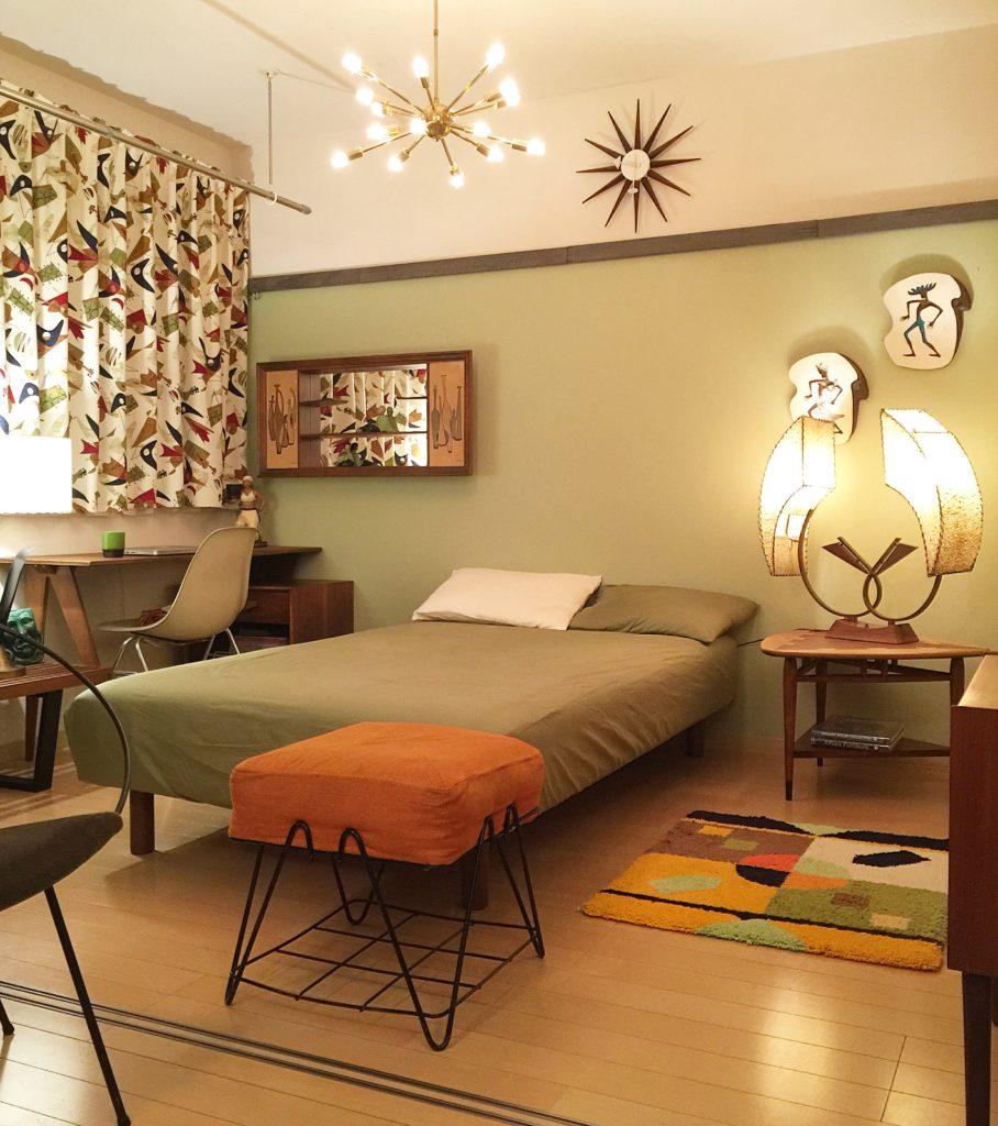 ミッドセンチュリーモダン 50s ベッドルーム