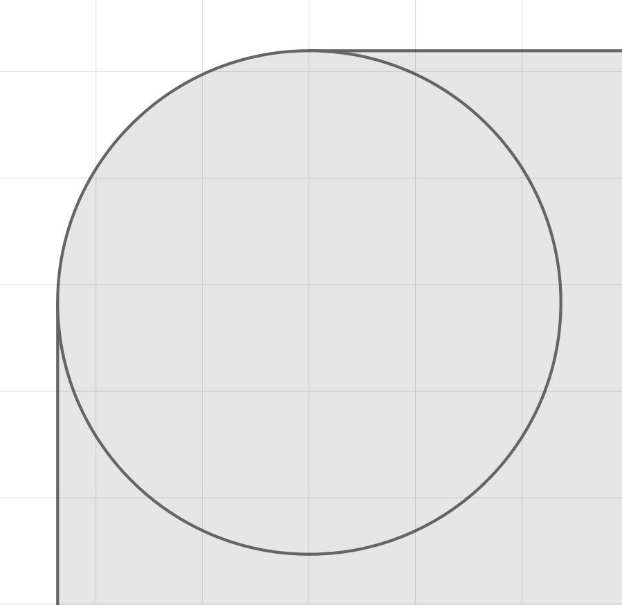 通常の角丸