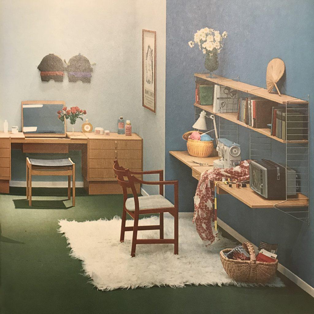 60年代 魅力的な壁色のインテリア