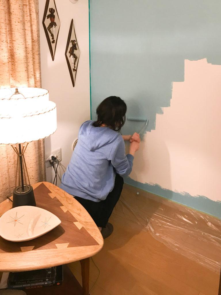 模様替えビフォーアフター|賃貸なのにペンキを塗る
