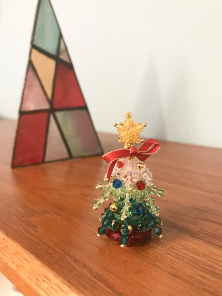 クリスタルガラスのクリスマスツリー