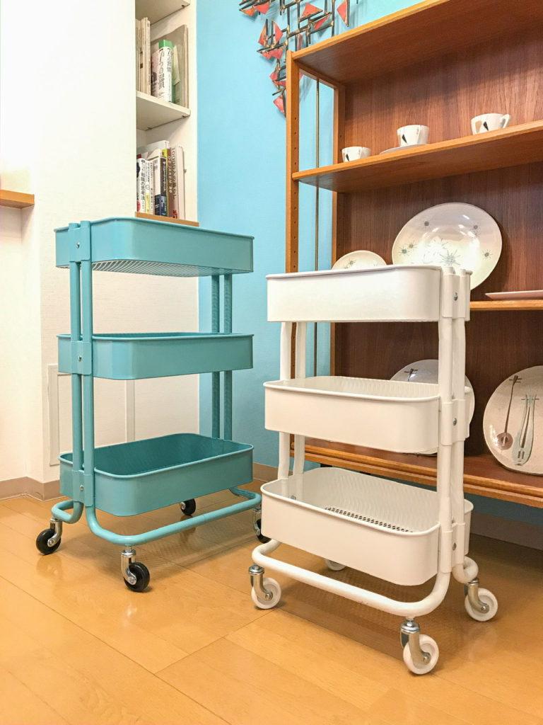 IKEAワゴン収納 ロースコグ&ロースフルト