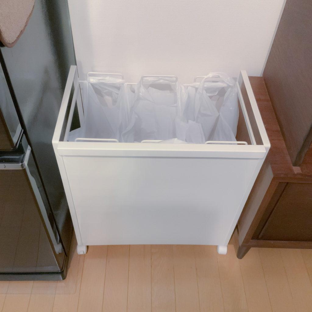 レジ袋を引っ掛けるだけのオシャレなゴミ箱 ひなたライフ ダストタワー