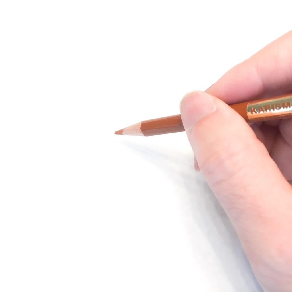木製家具の傷と色の補修:色鉛筆の持ち方NGパターン