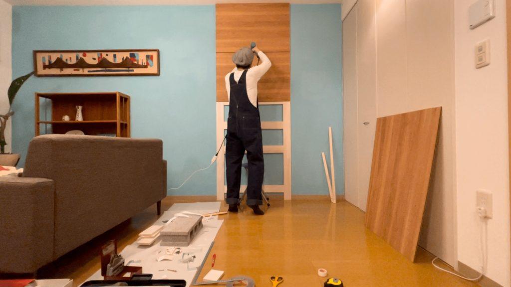 UR賃貸DIY|ウッドウォールを作る